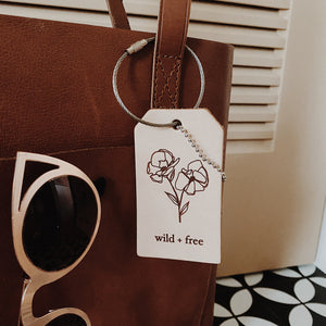 Wild + Free Floral Luggage Tag