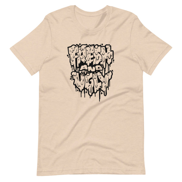 Fresh & Ugly - Splatter Drip - Black Outline - Short-Sleeve Unisex T-Shirt