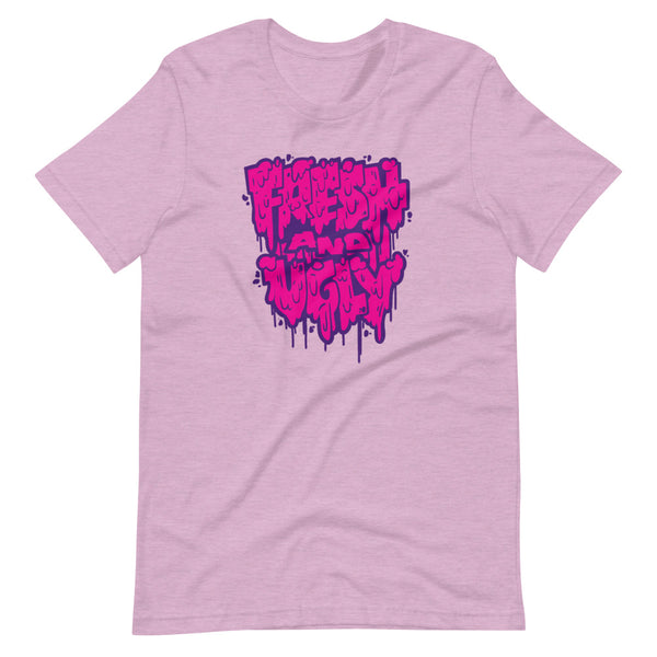 Fresh & Ugly - Splatter Drip - Purple & Pink - Short-Sleeve Unisex T-Shirt