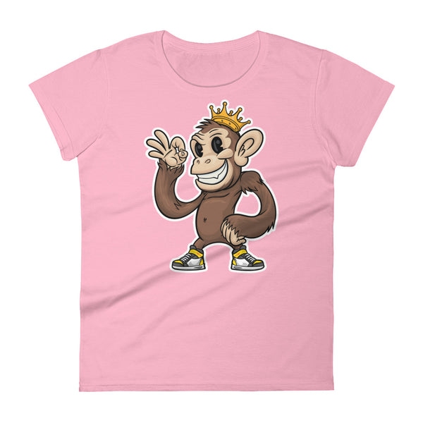 Believably Bad - King Chimp Standing - Light - Women's short sleeve t-shirt