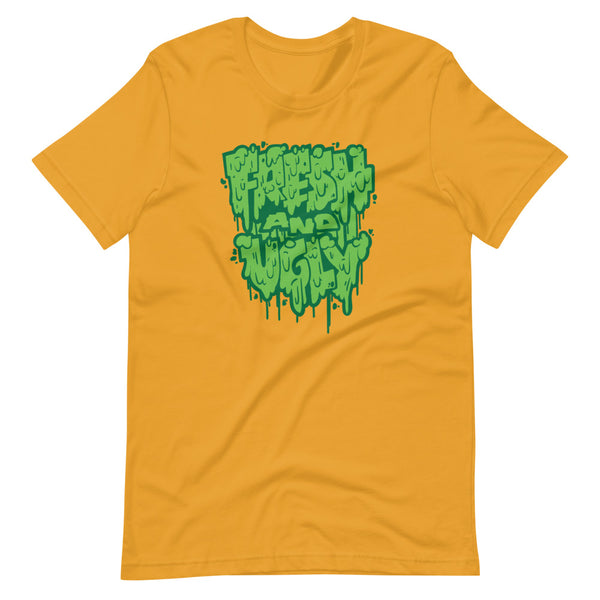 Fresh & Ugly - Splatter Drip - Dank Green- Short-Sleeve Unisex T-Shirt