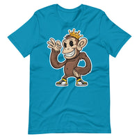 Believably Bad - King Chimp Standing - Dark - Short-Sleeve Unisex T-Shirt