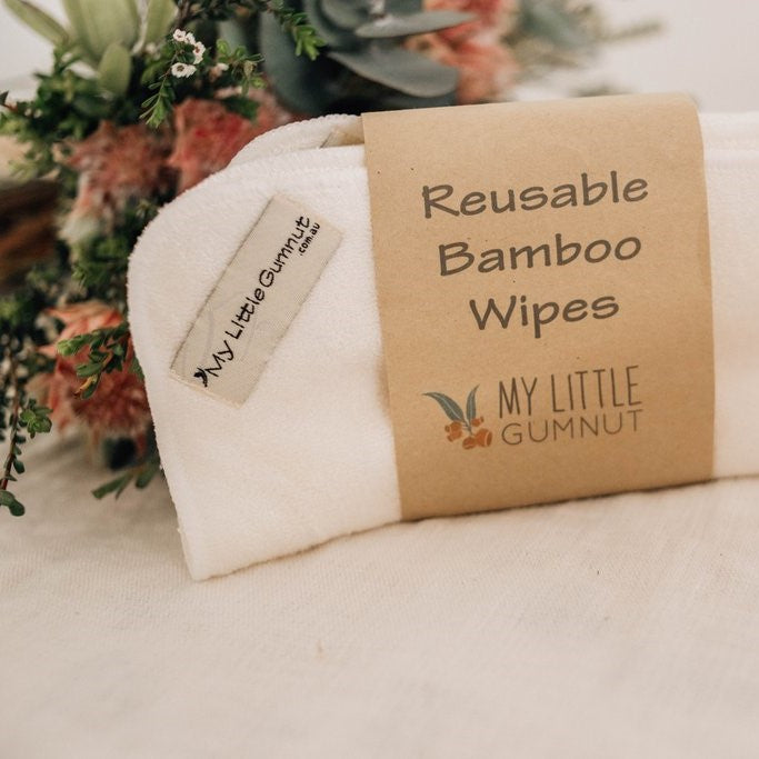 Reusable Bamboo Wipes (Pack of 5)