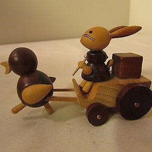 Wooden Chick & Rabbit Easter Toy