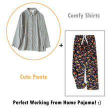 Load image into Gallery viewer, Perfect Working-from-home Long Sleeve Fleece Pajamas PJ Set