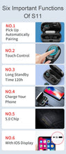 Load image into Gallery viewer, KUNGFU Dragon Fingerprint Touch bluetooth earphone