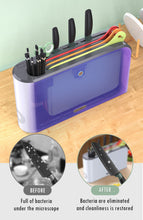 Load image into Gallery viewer, UV Knife Holder Countertop Kitchen  Drying Rack for Knives/Forks/Spoons/Chopsticks/Cutting Board
