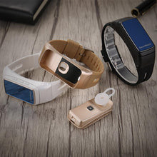 Load image into Gallery viewer, B7 smart bracelet, Bluetooth headset, two in one, can answer the phone, step by step alarm clock, wear gifts