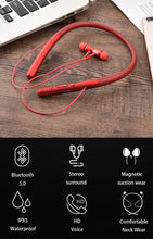 Load image into Gallery viewer, HC-700 New Necklace Bluetooth Headset Sports Running Biaural Into Ear Stereo