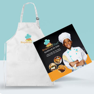 Cookbook/Apron Bundle - Step Stool Chef | Empowering Kids As Leaders In The Kitchen