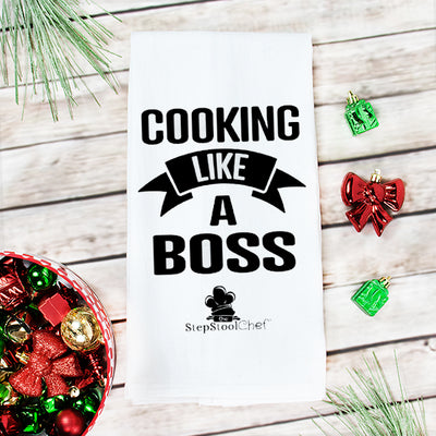 Cooking Like A Boss Kitchen Towel - Step Stool Chef | Empowering Kids As Leaders In The Kitchen