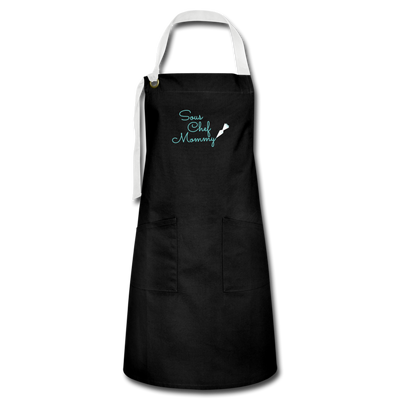 Artisan Apron Sous Chef Mommy - black/white
