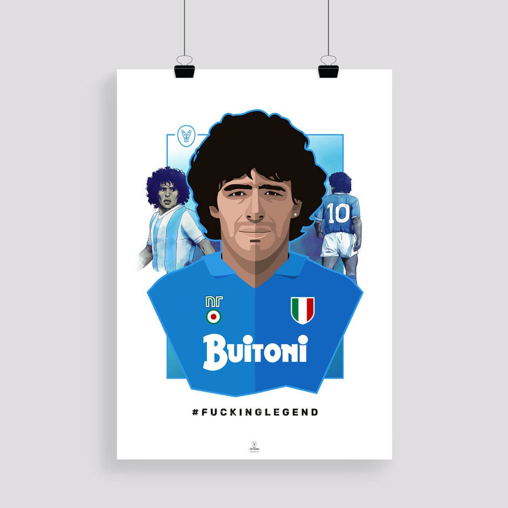 "Poster ""Diego"" 50 x 70 cm - FK'NG LEGEND"