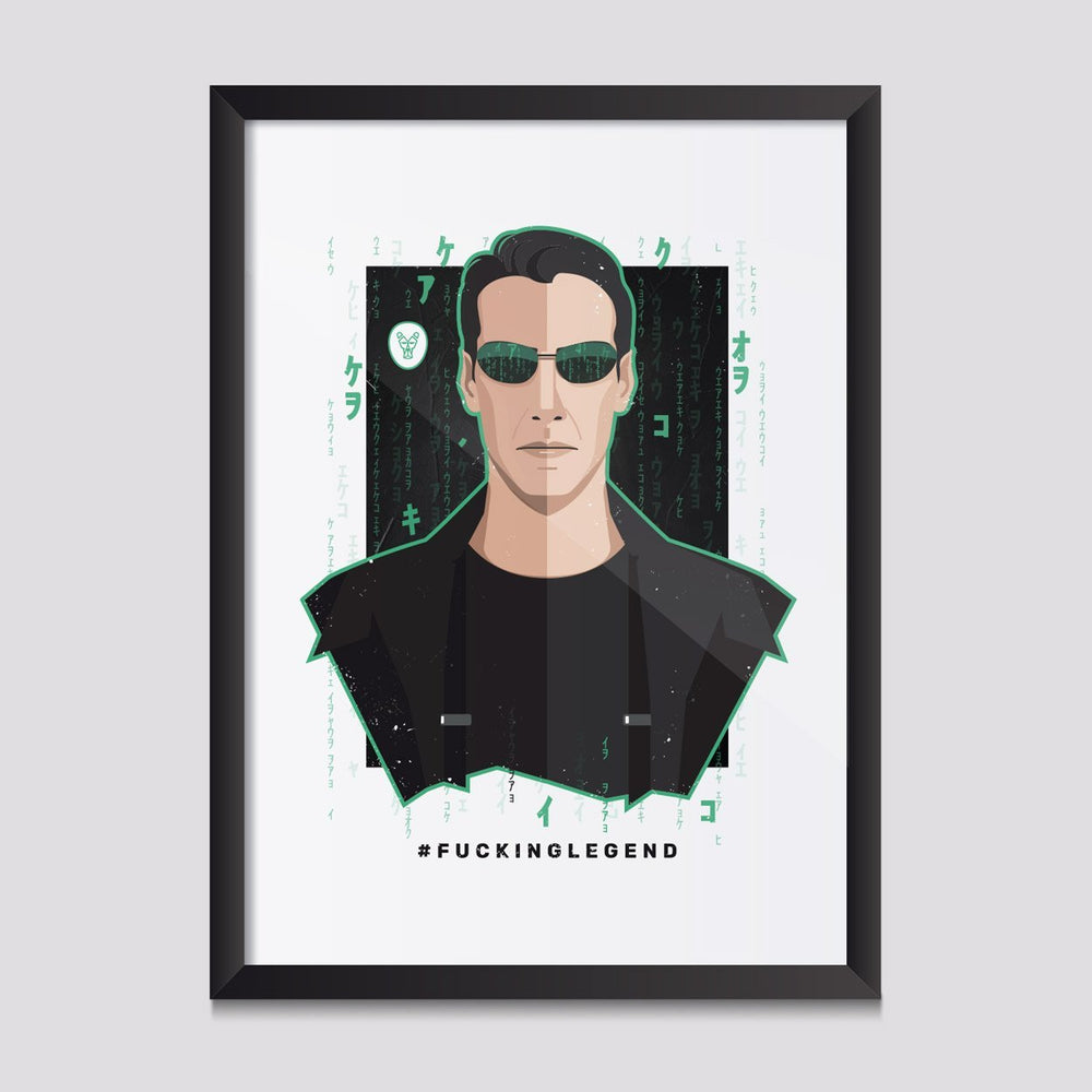 "Poster ""Neo"" 50 x 70 cm - FK'NG LEGEND"