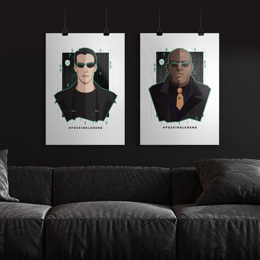 "Load image into Gallery viewer, Poster ""Neo"" 50 x 70 cm - FK'NG LEGEND"