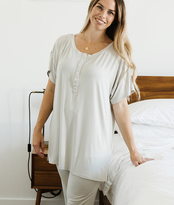 Henley Tunic - Gray