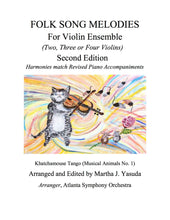 Load image into Gallery viewer, 001 - Folk Song Melodies For Violin Ensemble (Twinkle - Etude)