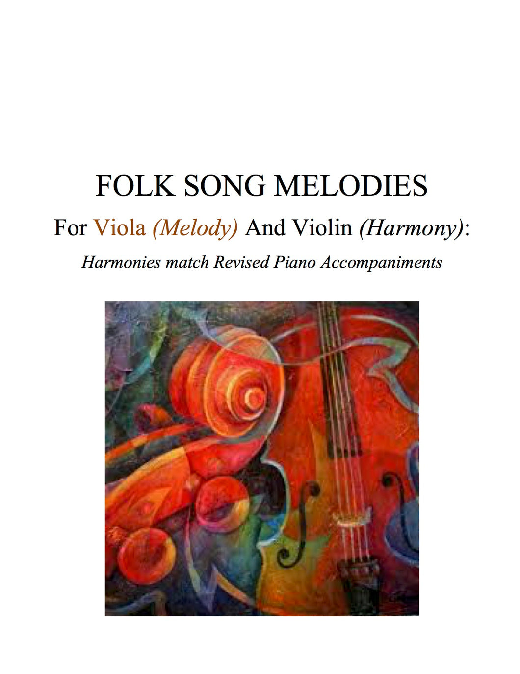 015 - PDF BUNDLE - Folk Song Melodies For Viola (Melody) and Violin (Harmony) Twinkle - Etude