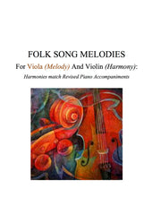 Load image into Gallery viewer, 015 - Folk Song Melodies For Viola (Melody) and Violin (Harmony) Twinkle - Etude