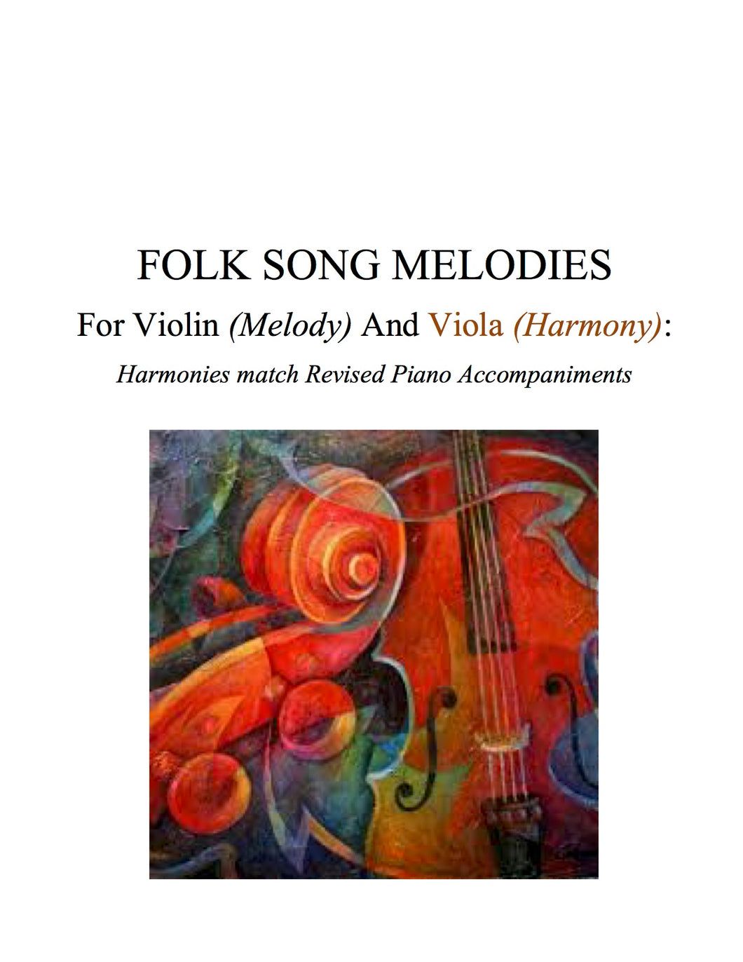 016 BUNDLE - Folk Song Melodies For Violin (Melody) and Viola (Harmony) Twinkle - Etude