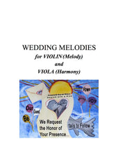 Load image into Gallery viewer, 057 - Wedding Melodies for Violin (Melody) and Viola (Harmony)