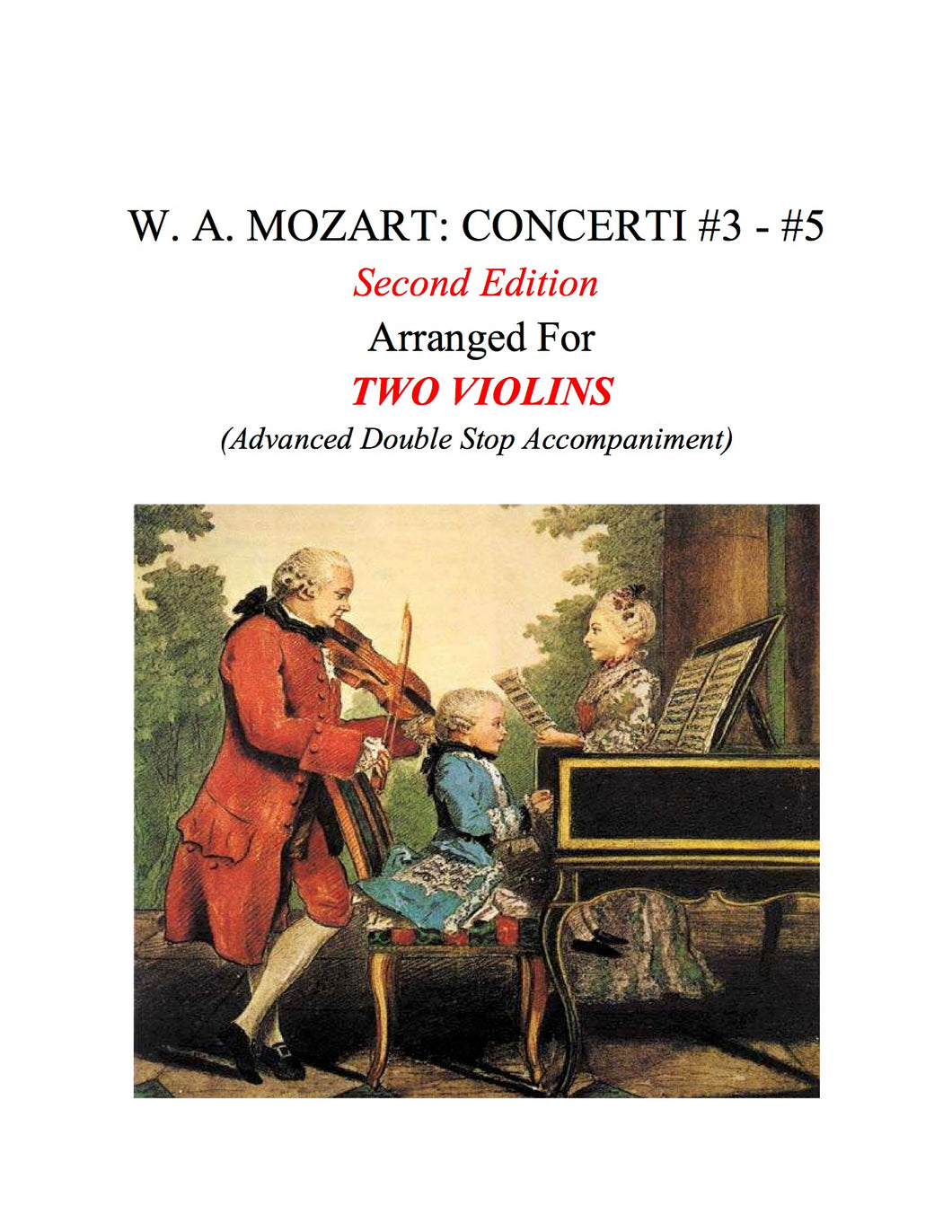 060B - W. A. MOZART: CONCERTI #3-#5: Second Edition (Double Stop Acc. with Digital Score)