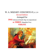 Load image into Gallery viewer, 063 -- W. A. MOZART: CONCERTO  #5, K.219