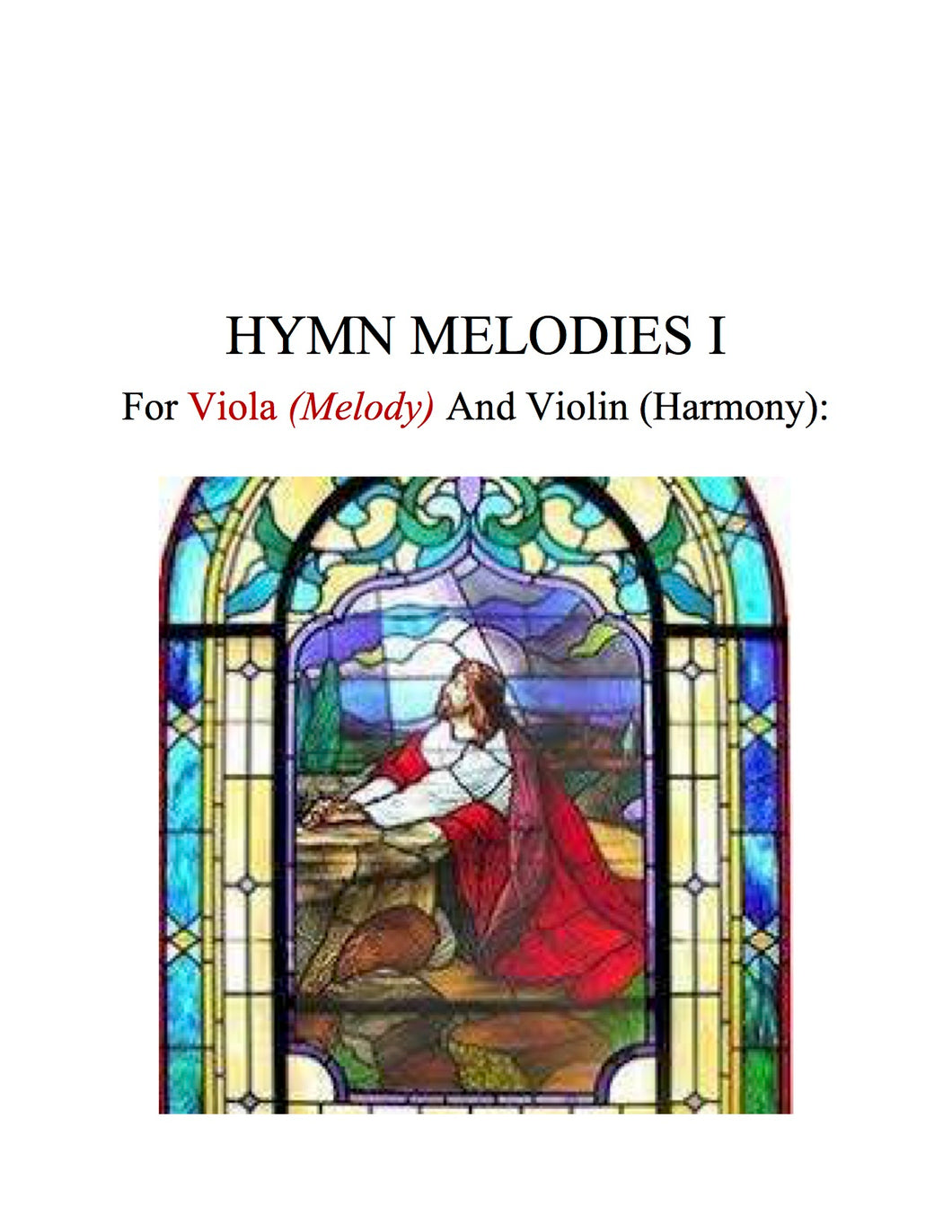 082 - Hymn Melodies For Viola and Violin, Volume I