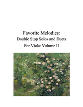 Load image into Gallery viewer, 087 - Favorite Melodies II: Double Stop Solos and Duets for Viola (with 10 Suzuki Bk. I pieces)