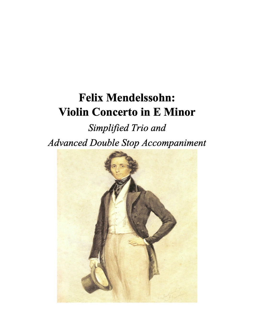 106 - The Mendelssohn Violin Concerto: Simplified Trio and Advanced Double Stop Accompaniment