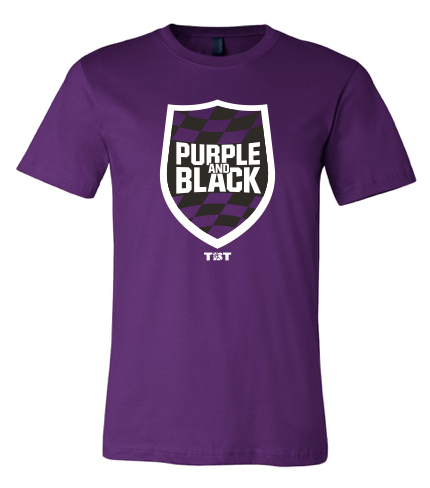 Purple and Black - Tee Shirt