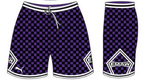 Purple & Black Official Shorts