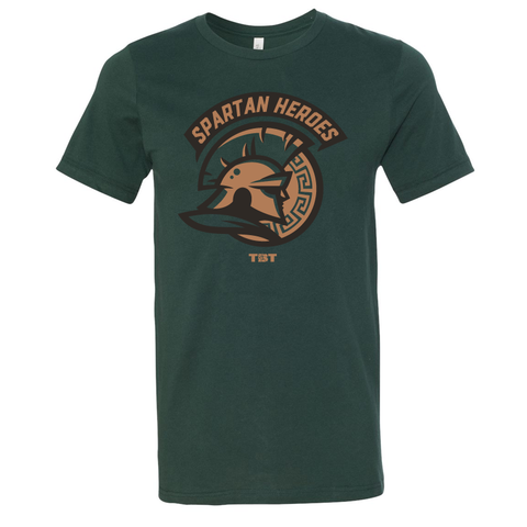 Spartan Heroes - 2016 Forest Green Tshirt