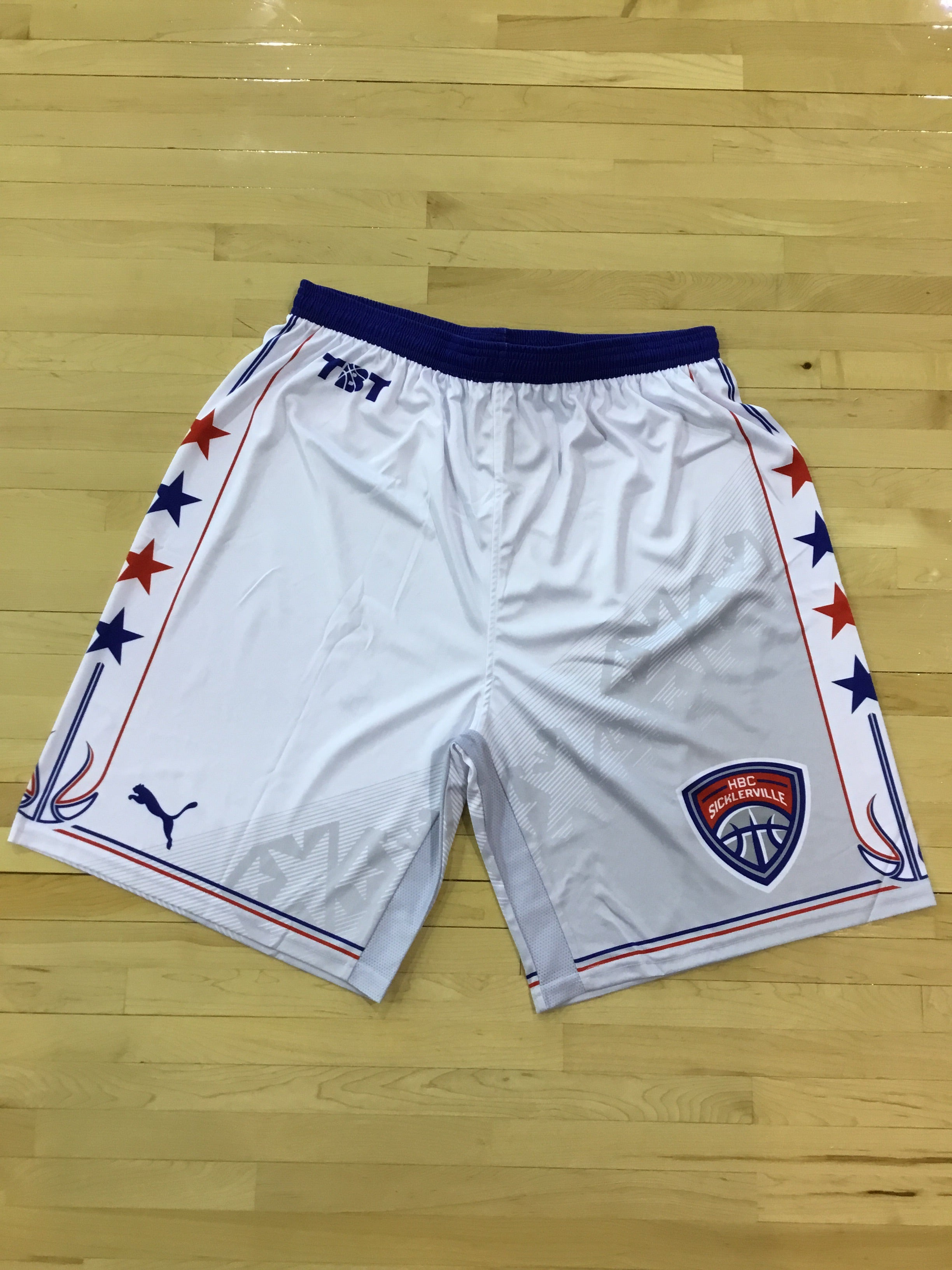 HBC Sicklerville - 2018 Official Team Shorts (White)