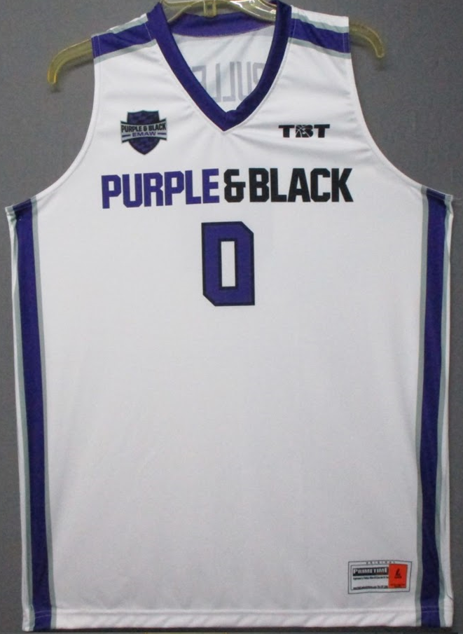 Purple and Black (Kansas State Alumni) - 2017 Official Team Jersey (White)