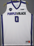 Purple and Black - 2017 Official Team Jersey (White)