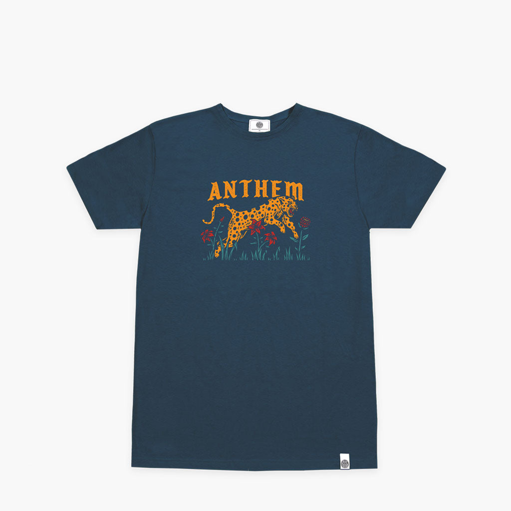 Anthem Brand Jungle T-shirt Stampata Colore Blue