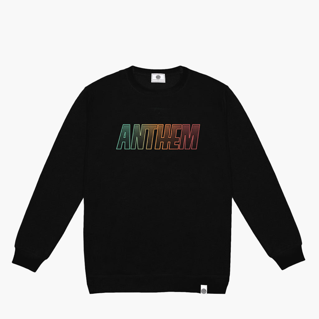 Anthem Brand Mark Crewneck Felpa Girocollo Stampata colore Black