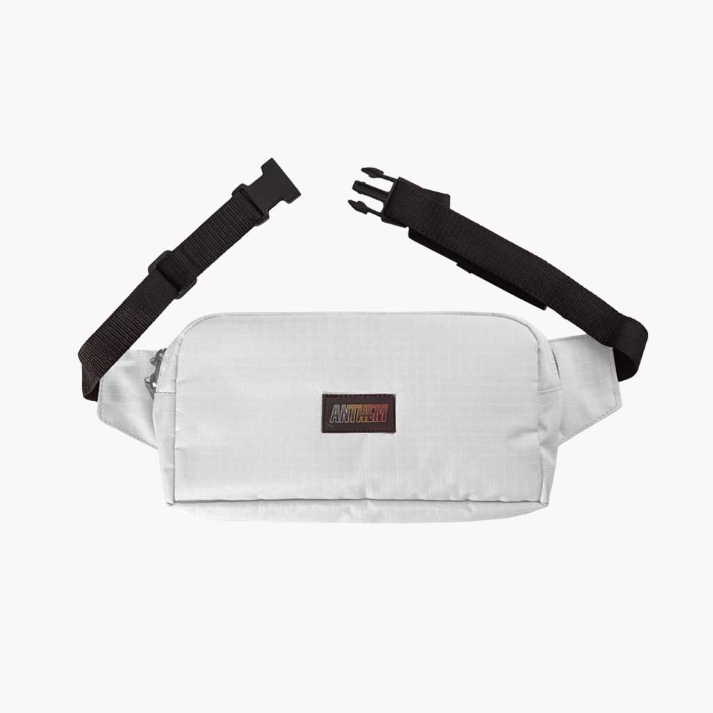 Anthem Brand Mark Pouch Marsupio con Patch Anthem Colore White