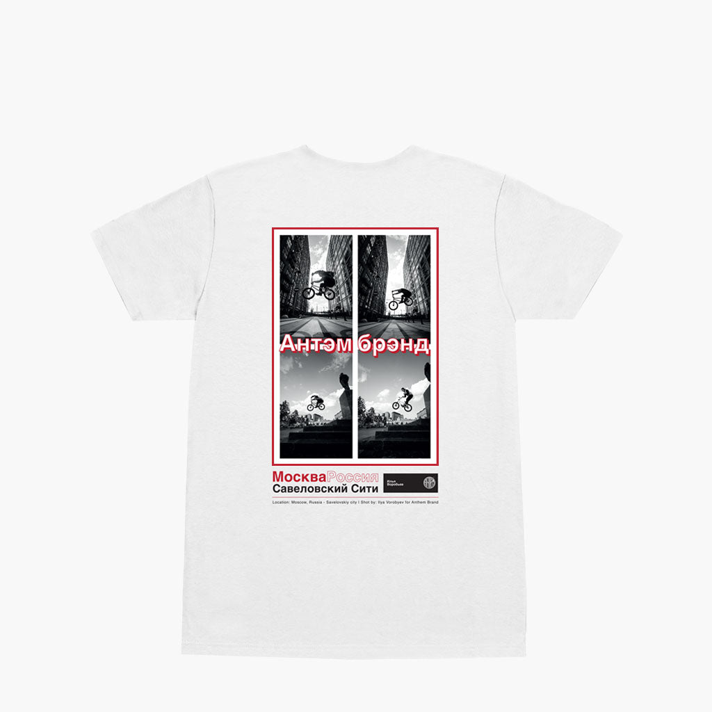 Anthem Brand Moscova Tee t-shirt con Stampa Fotografica ricamata sulla T-shirt Colore Bianco