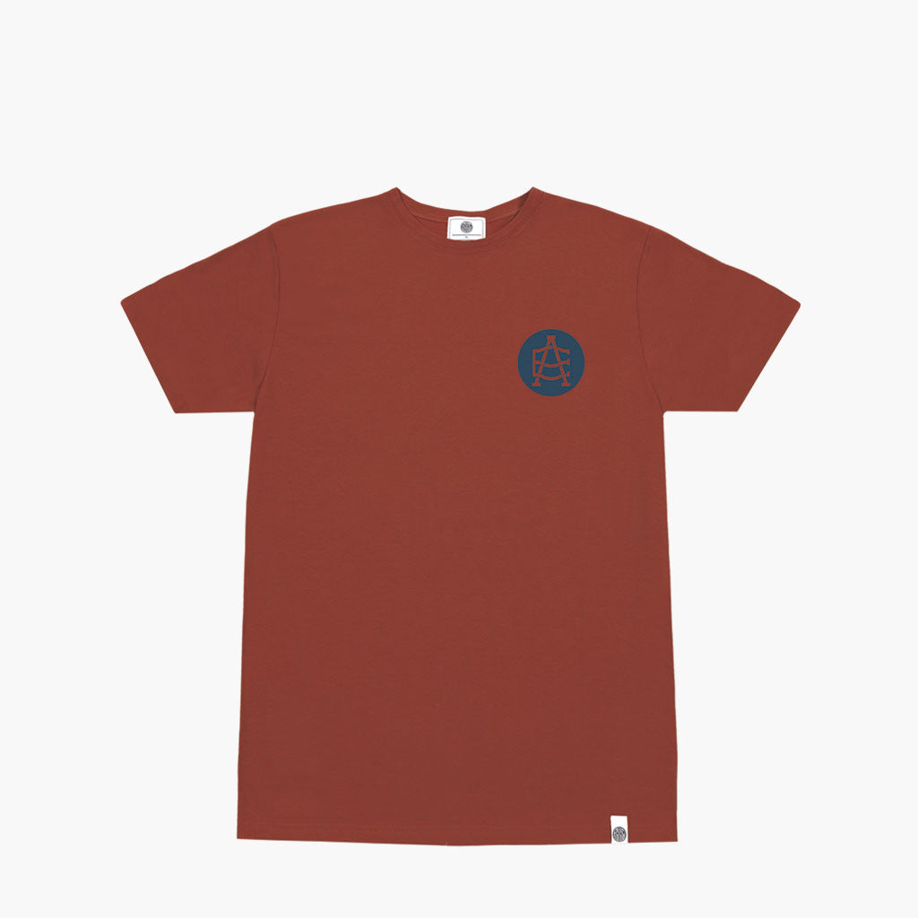 T-shirt Stampata con Logo Anthem Colore Rust