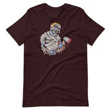 Load image into Gallery viewer, Creepy zombie with ax Short-Sleeve Unisex T-Shirt