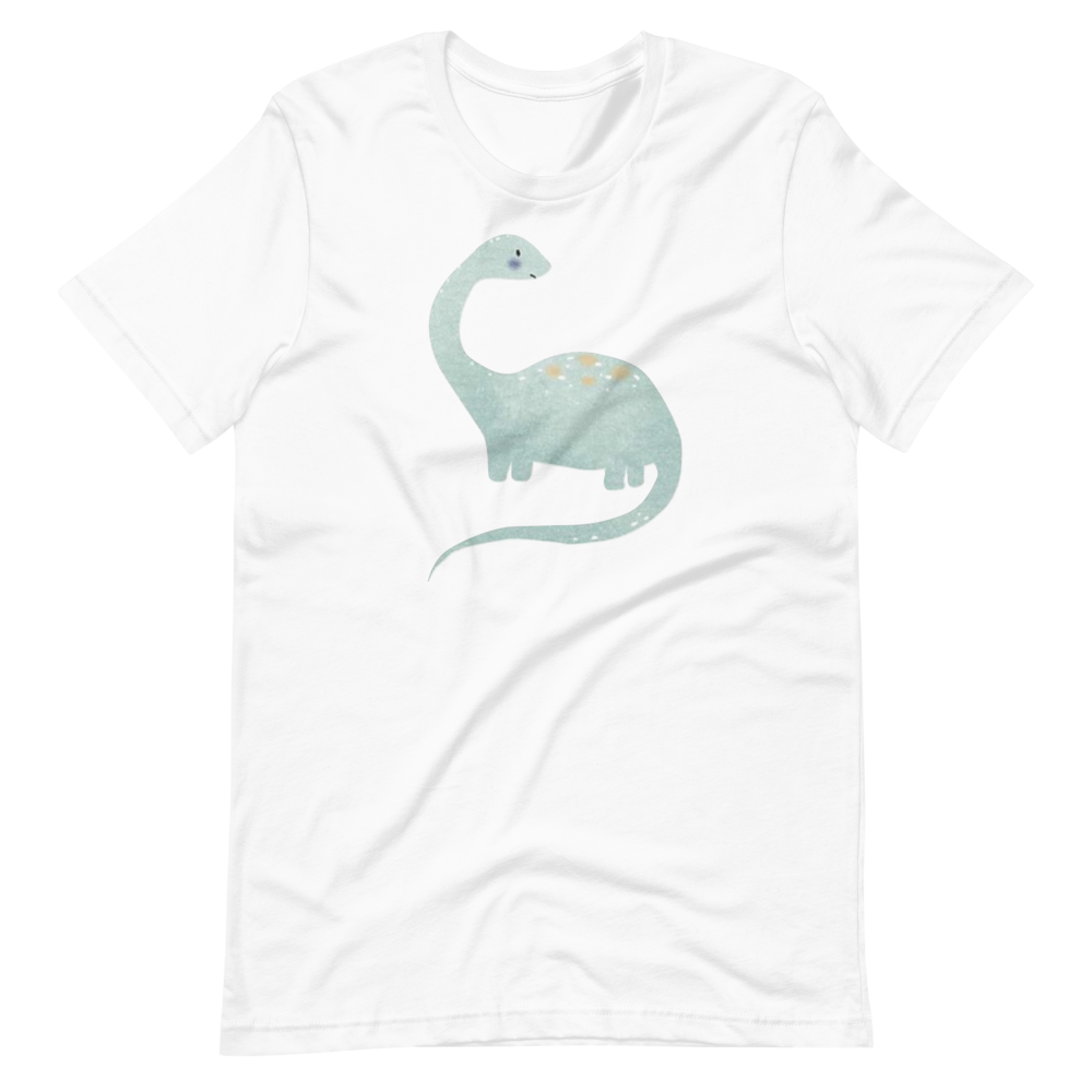 Dino dinosaur in watercolor Short-Sleeve Unisex T-Shirt
