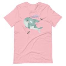 Load image into Gallery viewer, Watercolor sleeping whale Short-Sleeve Unisex T-Shirt