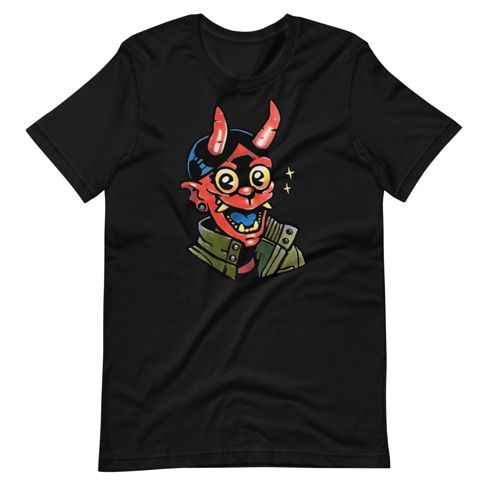 Devil rocker guy Short-Sleeve Unisex T-Shirt