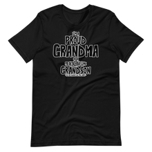 Load image into Gallery viewer, I'm a proud grandma of a freaking awesome grandson Short-Sleeve Unisex T-Shirt