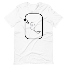 Load image into Gallery viewer, Loving ghost giving black heart kisses Short-Sleeve Unisex T-Shirt