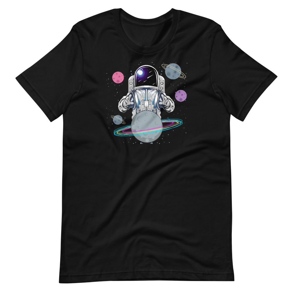 Astronaut and planets Short-Sleeve Unisex T-Shirt
