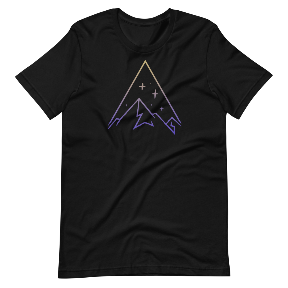 Minimalist snowy mountain Short-Sleeve Unisex T-Shirt