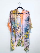 Load image into Gallery viewer, Pink Abstract Floral Sheer Kimono